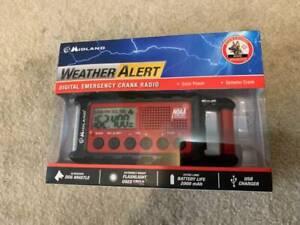 NIB Midland Weather Alert Digital Emergency Crank Radio #ER300