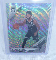 2019-20 Donruss Basketball Kyrie Irving Fanatics Silver Wave Card #102 NETS