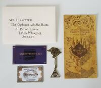 Harry Potter Letter, Train ticket, knight Bus ticket Marauders Map Free postage