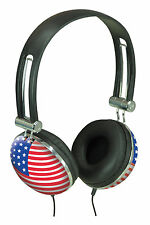 Stars and stripes cup headphones ideal iPod MP3 vinyl music funky retro style