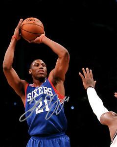 Philadelphia 76ers Thaddeus Young Signed 8x10 Photo COA