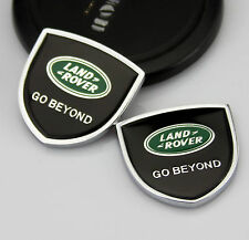 2pcs Quality Car Auto body Emblems Sticker Decal Badge fit for Shield Black gift