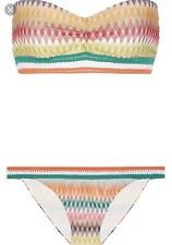 New Authentic Missoni Mare Crochet Knit 2 Piece Bandeau Bikini Set size 40 EU