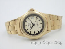 INVICTA 2212 Cream Dial Gold Tone All Stainless Steel Ladies Date Watch