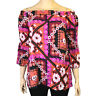 PLUS SIZE FLORAL BOHO BARDOT BELL SLEEVE BLOUSE TOP Sizes 18 - 26