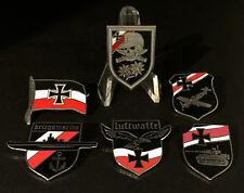 Set of 6 German WW2 Wehrmacht Kriegsmarine Luftwaffe etc Metal Pin Badges