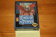 Rings of Power (Sega Genesis) - NEW SEALED US VERSION, VERY RARE RPG!
