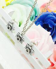 1 set Retro silver Creative camera pendant Necklace  earrings Fashion Jewelry