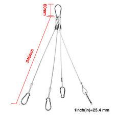 80kg/177lbs Stainless Steel Grow  Light  Rope Hanger Lamp Bulbs Protective Tube