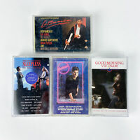 Movie Soundtrack Cassettes - Lot of 4 - La Bamba, Cocktail, Sleepless in Seat...