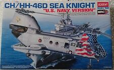 Model kit Academy 1/48 CH/HH-46D SEA KNIGHT U. S. NAVY 12207 HELICOPTER NEW 2005
