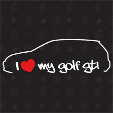 I love my vw Golf 6 GTI Tuning Sticker,MK6 Voiture Autocollants Marrants,voiture