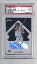 Nelson Cruz Rookie Card 2006 Finest Black Refr. Auto PSA 9.* ONLY 5 PSA 9's*
