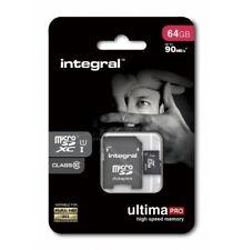 CARTE MEMOIRE MICRO SD FULL HD ★★ INTEGRAL 64GB ★★ ULTIMA PRO CLASS 10 - 90MB/s