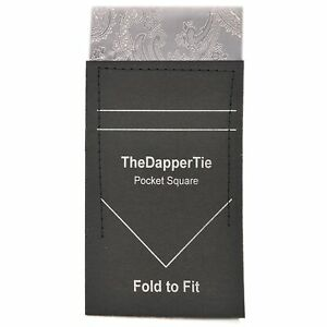 TheDapperTie - New Men's Paisley Flat Pre Folded Pocket Square on Card