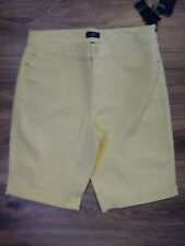 NWT NYDJ Not Your Daughters Jeans Popcorn Yellow Cropped Shorts Women's Size 12P