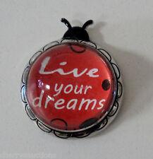 n Live your dreams Lucky Ladybug Charm Figurine Inspirational Encouragement ganz
