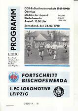 OL 89/90 Fortschritt Bischofswerda - 1. FC Lok Leipzig, 24.02.1990