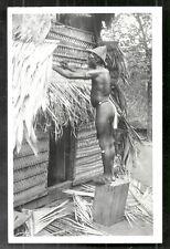 Suriname photo postcard nude Bushnegro Man 1949