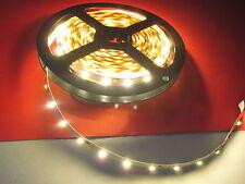 1 mètre de RUBAN à LED BLANC  câblée ton chaud 12V DC pour maquettes / dioramas