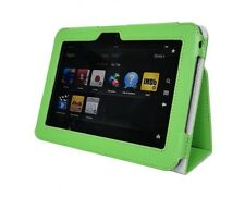 Genuine Leather Stand Pouch Case Cover For Amazon Kindle Fire HD 7 Tablet GRN 02