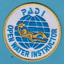 PADI OPEN WATER INSTRUCTOR SCUBA DIVE DIVING PATCH 4""