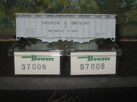 BOWSER N SCALE  #37006 3 PACK COVERED HOPPERS CHURCH & DWIGHT.