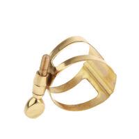 Alto Gold Saxophone Clamp Ligature Clip Saxophone Reed Clip for Sax Practice