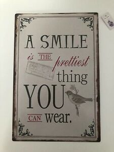 Shabby Chic Vintage Quote Metal Sign