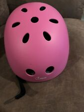 pink bicylce helmet size small new