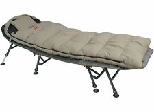 Carp Fishing Camping Snooze 4 Season Fleece Lined Sleeping Bag Green Twin Zip