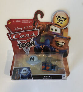 Last One! NEW 2010 Disney Pixar Cars Cars Toon Mator with Oil Cans  #37 Rare HTF