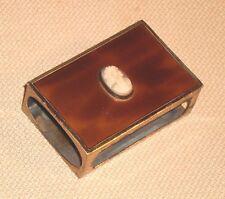 Antique Enameled Brass Match Holder GES GESCH Germany Fine Carving Cameo 172k