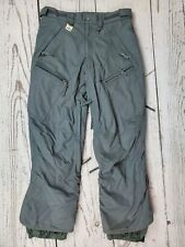 686 Snowboard Pants Womens Medium Gray Ski Snow Cargo