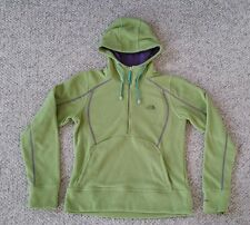 The North Face TKA Micro Fleece 1/2 Zip Hoodie Jacket Green Purple Women's M