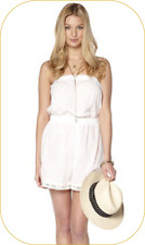 Size MEDIUM BRODERIE ANGLAISE PLAYSUIT FROM ADORE COL:  WHITE 100% COTTON BNWT