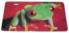 BRIGHT COLOR TREE FROG LICENSE PLATE 6 X 12 INCHES NEW ALUMINUM