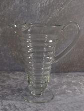 Glashütte Kristall Glas Krug Glaskrug Saftkrug Lufteinschlüsse Handhabe ca 30er