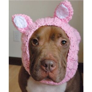 Pink Cat Crochet Snood for Dogs Handmade - Size Large - Free Shipping