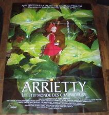 THE BORROWERS ARRiETTY  借りぐらしのアリエッティ  Studios Ghibli Anime LARGE French POSTER