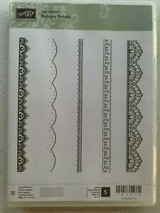 Stampin Up new photopolymer stamp set  'Delicate Details.' Great for borders