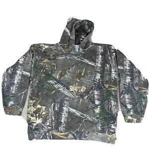 Realtree Edge mens camo Long Sleeve Hoodie Camouflage L Large Camo pocket 42-44