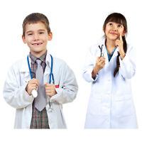 Boys Girls White Lab Coat Super Soft for Kids Unisex