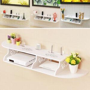 Shelves Chic Wall Mount for CD TV DVD Book Display Storage Modern White UK