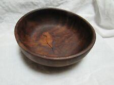 Antique Primitive Footed Burl Wood Bowl 7-1/2� Dia. Myrtle? Redwood?