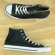 27deb693b7d180 Converse Chuck Taylor All Star Hi Top Leather Black White Classic 1S581 Size