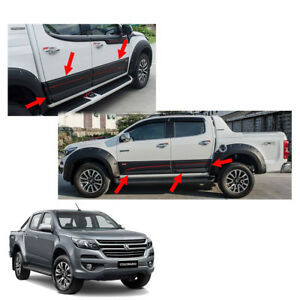 Side Molding Body Cladding Black Red 6 Pc For Chevrolet Holden Colorado 2017 +