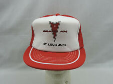 Grand Am Pontiac Trucker Hat Cap Red White St Louis Imprint One Size Snapback