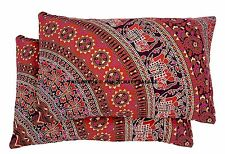Pair of Elephant Print Pillow Sham Mandala Cushion Pillow Sham / Case Bed Decor