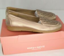 Easy Spirit Wynter Loafers Sz 8.5 M Gold Slip On Womens Shoes